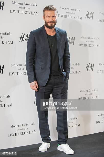 David Beckham presents the Modern Essentials collection by H&M on March 20, 2015 in Madrid, Spain.
