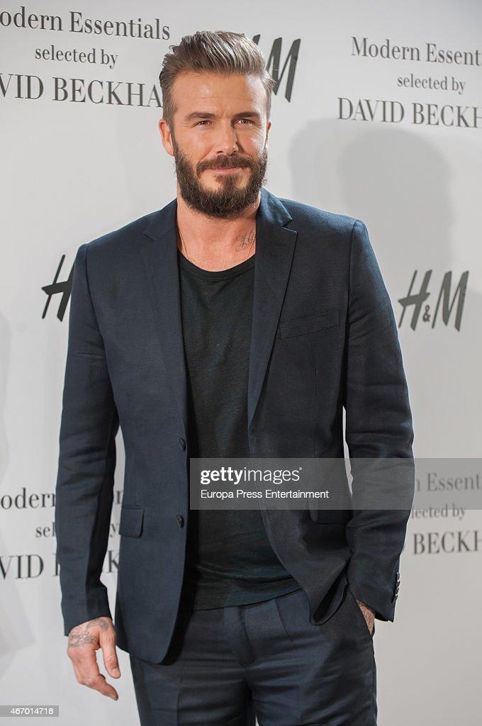 David Beckham Presents Modern Essentials Collection by H&M : News Photo