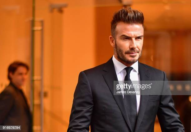 David Beckham seen on the streets of Manhattan on February 11 2018 in New York City