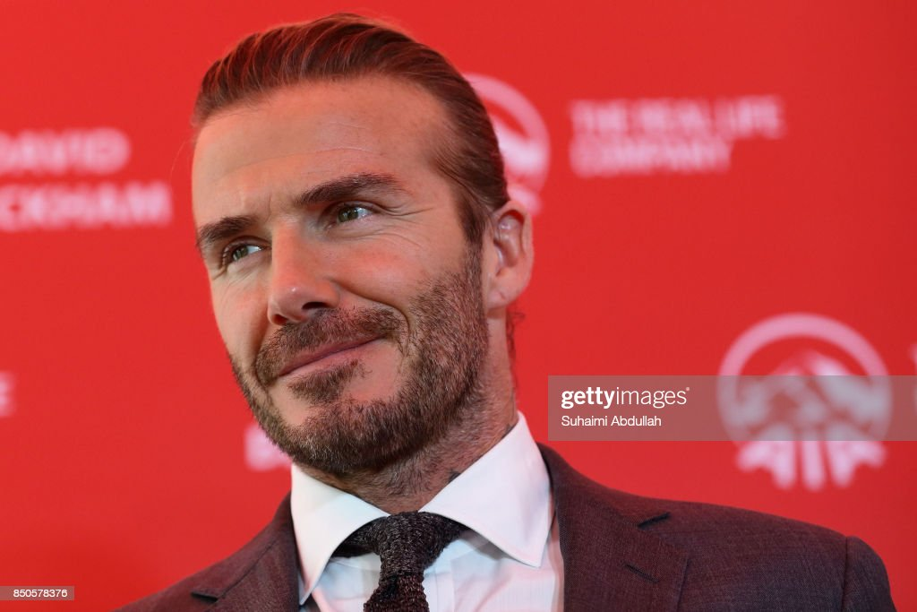 David Beckham Arrives In Singapore : News Photo