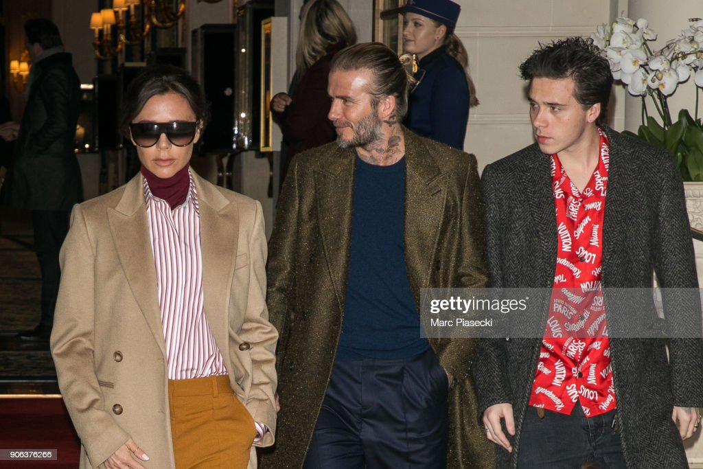 Victoria Beckham and David Beckham Sighting In Paris  -  January 18
