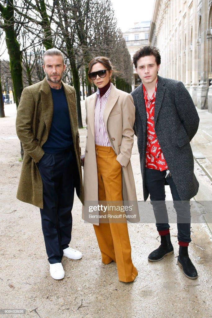 Louis Vuitton : Front Row - Paris Fashion Week - Menswear F/W 2018-2019 : Photo d'actualité
