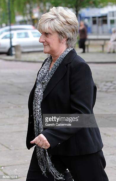 David Beckhams mother Sandra attends the funeral of Pat Lampard at St Margarets Church on May 2 2008 in Barking England
