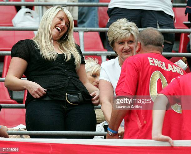 David Beckham's sister Joanne and mum Sandra before the FIFA World Cup Germany 2006 Group B match between Sweden and England at the Stadium Cologne...
