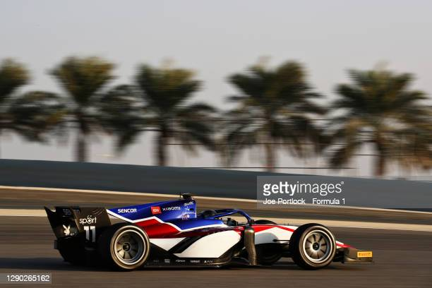 David Beckmann of Germany and Charouz Racing System drives during Day Two of Formula 2 Testing at Bahrain International Circuit on December 09, 2020...