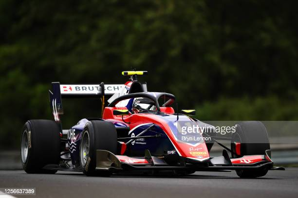 David Beckmann of Germany and Trident drives during practice for the Formula 3 Championship at Hungaroring on July 17, 2020 in Budapest, Hungary.