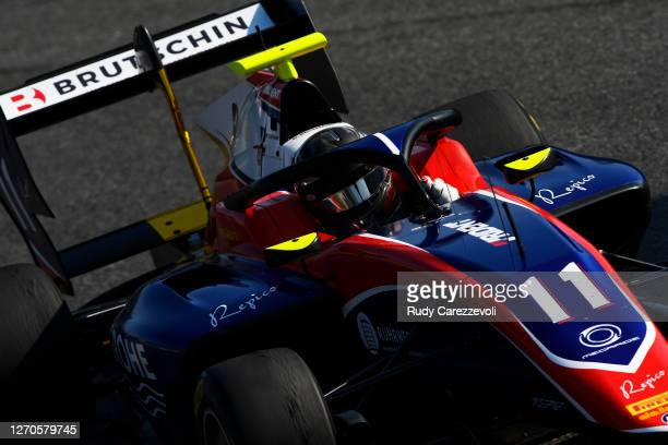 David Beckmann of Germany and Trident drives during practice for the Formula 3 Championship at Autodromo di Monza on September 04, 2020 in Monza,...