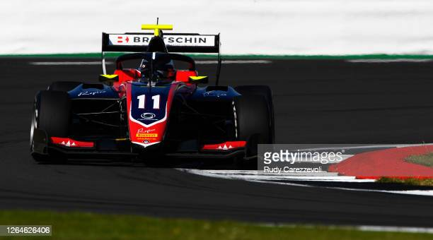 David Beckmann of Germany and Trident drives during race one of the Formula 3 Championship at Silverstone on August 08, 2020 in Northampton, England.