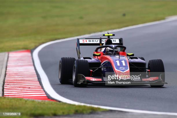 David Beckmann of Germany and Trident drives during race two of the Formula 3 Championship at Hungaroring on July 19, 2020 in Budapest, Hungary.