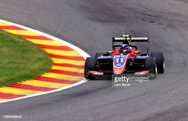 David Beckmann of Germany and Trident drives during the first race of the Formula 3 Championship at Circuit de Spa-Francorchamps on August 29, 2020...