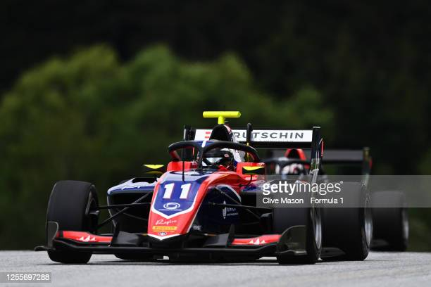 David Beckmann of Germany and Trident drives during the sprint race for the Formula 3 Championship at Red Bull Ring on July 12, 2020 in Spielberg,...