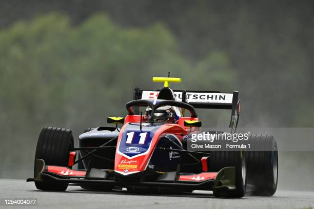 David Beckmann of Germany and Trident drives on track during practice for the Formula 3 Championship at Red Bull Ring on July 03, 2020 in Spielberg,...