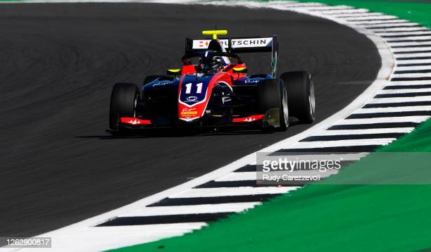 David Beckmann of Germany and Trident drives on track during practice for the Formula 3 Championship at Silverstone on July 31, 2020 in Northampton,...