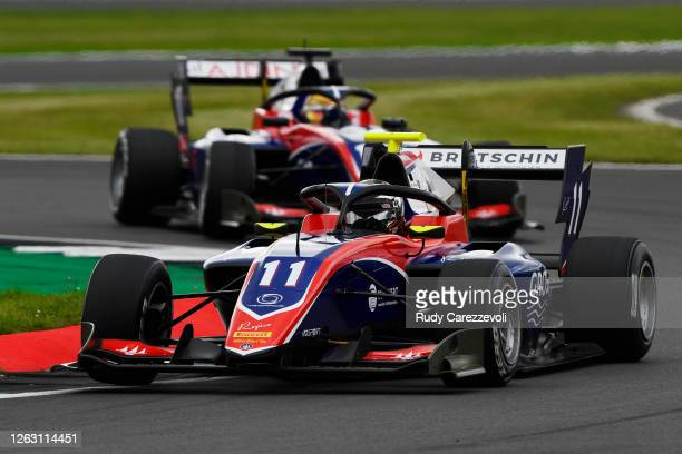 David Beckmann of Germany and Trident drives on track during race one of the Formula 3 Championship at Silverstone on August 01, 2020 in Northampton,...