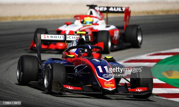 David Beckmann of Germany and Trident drives on track during race one of the Formula 3 Championship at Circuit de Barcelona-Catalunya on August 15,...