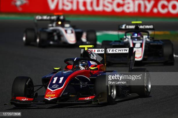 David Beckmann of Germany and Trident drives on track during the Formula 3 Championship First Race at Mugello Circuit on September 12, 2020 in...