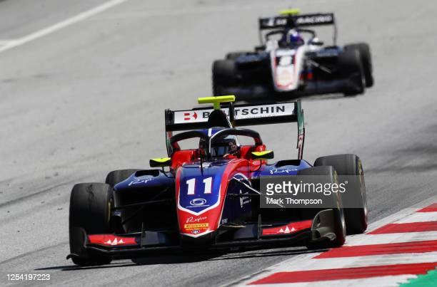 David Beckmann of Germany and Trident drives on track during the feature race for the Formula 3 Championship at Red Bull Ring on July 04, 2020 in...