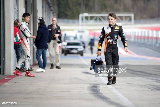 David Beckmann of Germany and Van Amersfoort Racing walks back to his garage the pit lane during the official testdays FIA F3 European Championship...