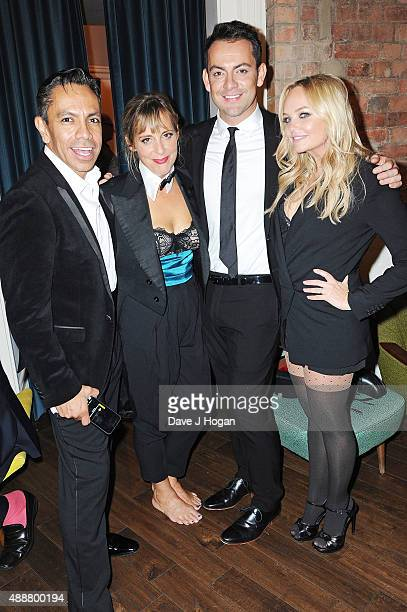 David Bedella Mel Giedroyc Ben Forster and Emma Bunton attend the 'Rocky Horror Show' Gala Charity Performance After Party at Picturehouse Central on...
