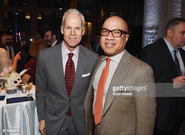 David Beitzel and Darren Walker attend the Winter Gala at Lincoln Center at Alice Tully Hall on February 13 2018 in New York City