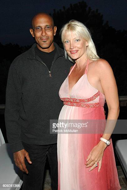 David Belafonte and Melena Belafonte attend GUCCI Cristina Chris Cuomo and Stephanie and David Wolkoff's Midsummer Night's Dinner at The Ross School...