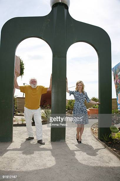 David Bellamy and Emilia Fox attend the opening of 'Future Gardens' at Butterfly World on June 4 2009 in St Albans England