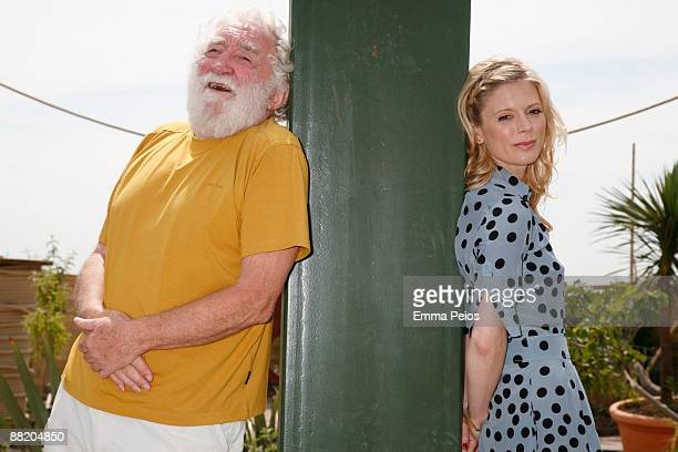 David Bellamy and Emilia Fox attends the opening of 'Future Gardens' at Butterfly World on June 4 2009 in St Albans England