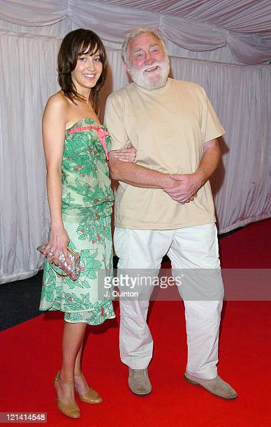 David Bellamy and Guest during ITV's Hell's Kitchen Party Arrivals at Brick Lane in London Great Britain