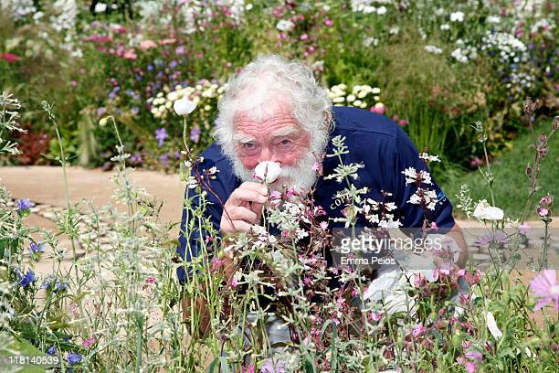 David Bellamy attends the first day of Hampton Court Palace Flower Show at Hampton Court Palace on July 3 2011 in London England