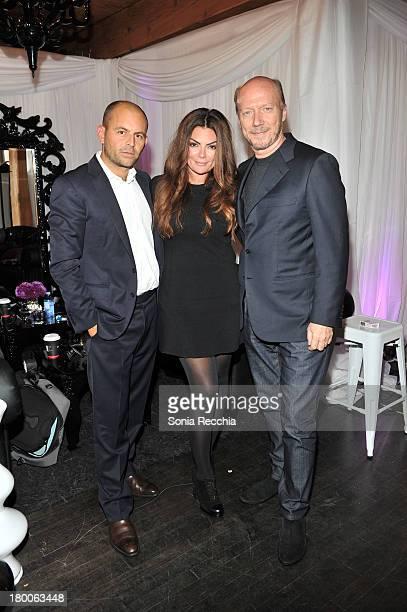 David Belle Natasha Koifman and Paul Haggis join forces at the 2013 NKPR IT Lounge Portrait Studioon September 7 2013 in Toronto Canada