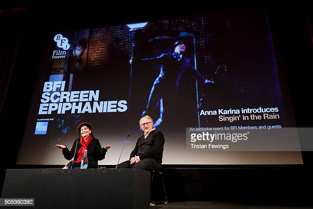 David Benedict and Anna Karina introduce Singin' in the Rain at BFI Southbank on January 17 2016 in London England