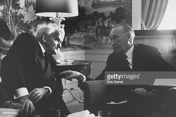 David BenGurion w Konrad Adenauer at Waldorf Hotel