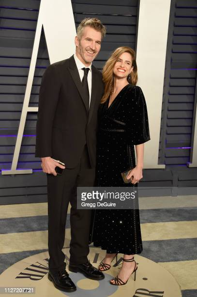 David Benioff and Amanda Peet attend the 2019 Vanity Fair Oscar Party hosted by Radhika Jones at Wallis Annenberg Center for the Performing Arts on...
