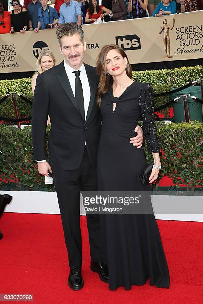 David Benioff and Amanda Peet attend the 23rd Annual Screen Actors Guild Awards at The Shrine Expo Hall on January 29 2017 in Los Angeles California