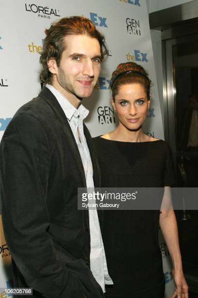 David Benioff and Amanda Peet during The Weinstein Company's Premiere of 'The Ex' Arrivals at The Director's Guild at 110 West 57th Street in New...