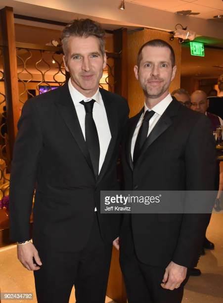 David Benioff and D B Weiss attend HBO's Official 2018 Golden Globe Awards After Party on January 7 2018 in Los Angeles California