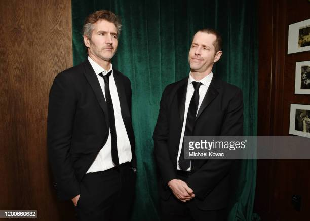 David Benioff and D.B. Weiss attend 2020 Netflix SAG After Party at Sunset Tower on January 19, 2020 in Los Angeles, California.