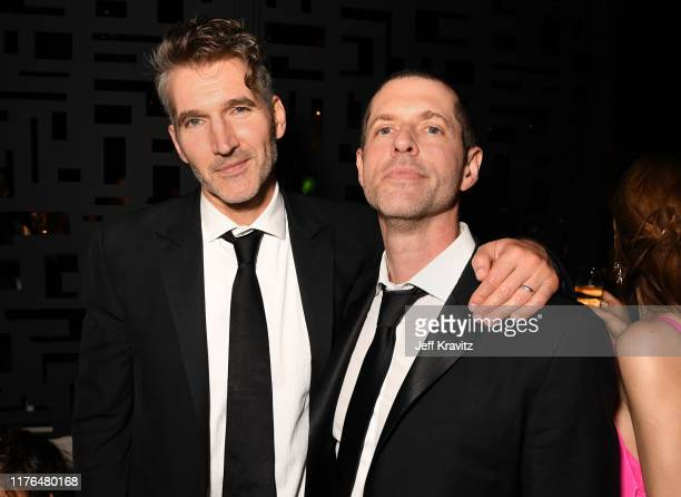 David Benioff and DB Weiss attend HBO's Official 2019 Emmy After Party on September 22 2019 in Los Angeles California