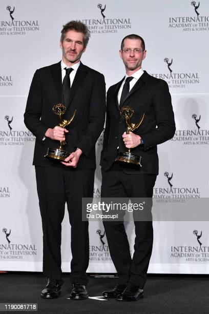 David Benioff and D.B. Weiss Winner of the Founder award during the 2019 International Emmy Awards Gala on November 25, 2019 in New York City.