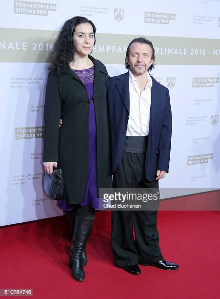 David Bennent and Kavita Chohan attend the NRW Reception at the Landesvertretung during the 66th Berlinale International Film Festival on February 14...