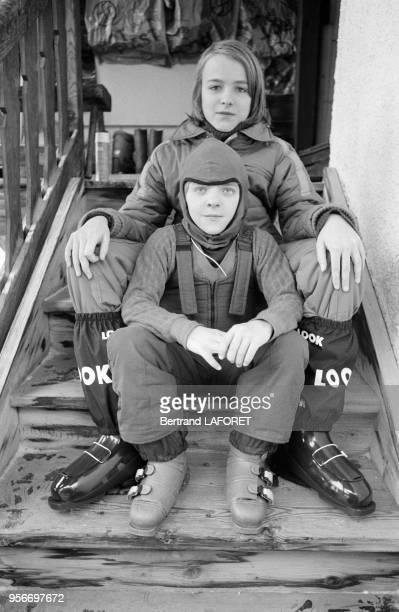 David Bennent dans le chalet familial à Valais en Suisse le 10 janvier 1980