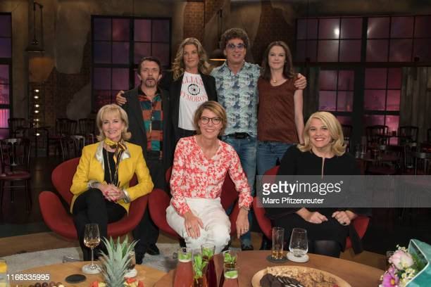 David Bennent Marie Baeumer Atze Schroeder Inka Nisinbaum Dagmar Koller Bettina Boettinger and Lea Linster attend the Koelner Treff TV Show at the...