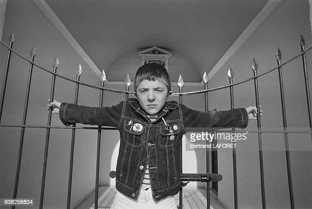 David Bennent sur le tournage du film 'Sarah' réalisé par Maurice Dugowson à Séville Espagne en novembre 1982