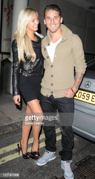 David Bentley and guest sighted at Whisky Mist Club on August 28 2011 in London England