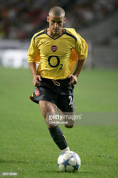David Bentley of Arsenal during the LG Amsterdam Tournament friendly match between Ajax and Arsenal at The Amsterdam Arena on July 29, 2005 in...