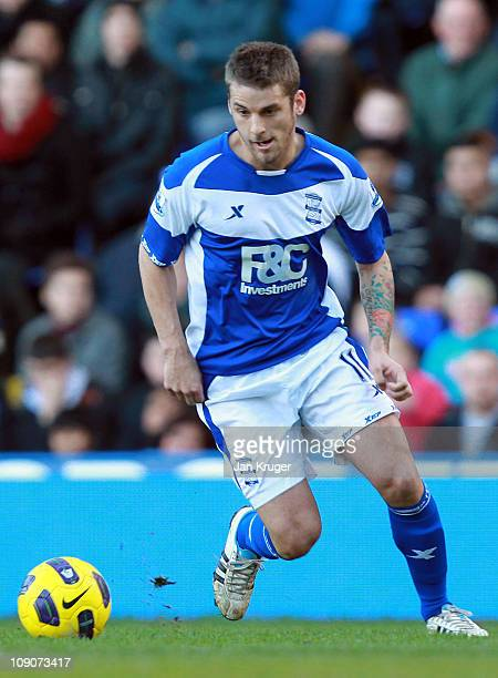 David Bentley of Birmingham City in action during the Barclays Premier League match between Birmingham City and Stoke City at St Andrews on February...