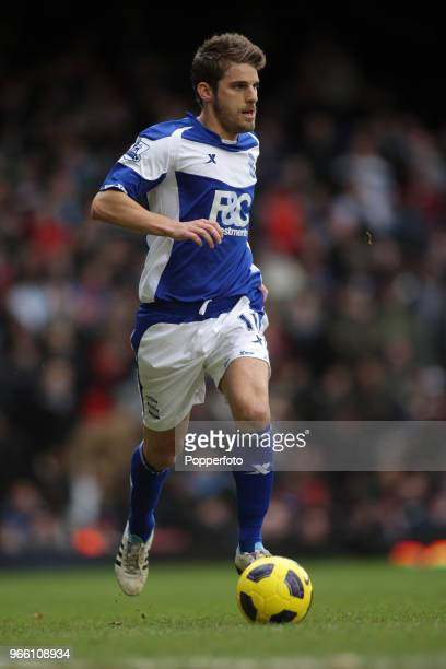 David Bentley of Birmingham City in action during the Barclays Premier League match between West Ham United and Birmingham City at Upton Park on...