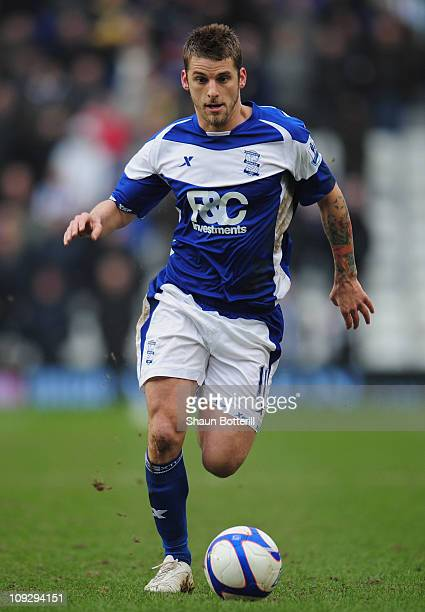 David Bentley of Birmingham City in action during the FA Cup Sponsored by eon 5th Round match between Birmingham City and Sheffield Wednesday at St...