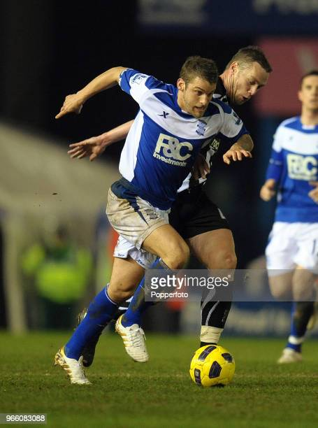 David Bentley of Birmingham in action during the Barclays Premier League match between Birmingham City and Newcastle United at St Andrews on February...