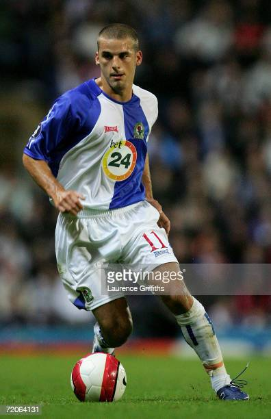David Bentley of Blackburn Rovers in action during the UEFA Cup First Round Second Leg match between Blackburn Rovers and FC Salzburg at Ewood Park...